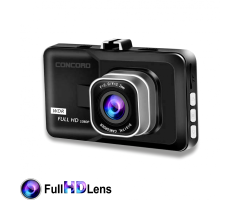 Concord C-658 3.0'' In-Vehicle Full HD Dual Camera